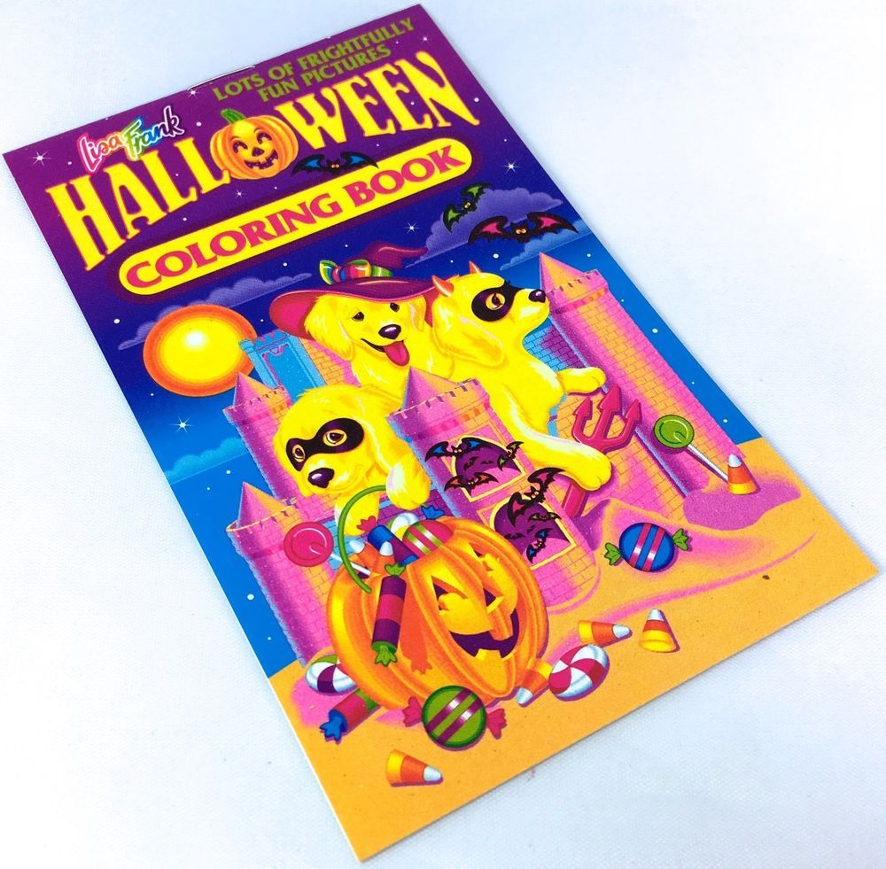 Vtg Lisa Frank Halloween Mini Coloring Book Casey Puppies
