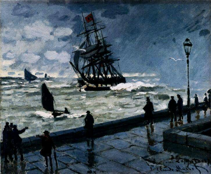The Jetty at Le Havre, Bad Weather by Claude Monet Date: 1870 Dimensions: 50 x 60 cm Location: Private Collection
