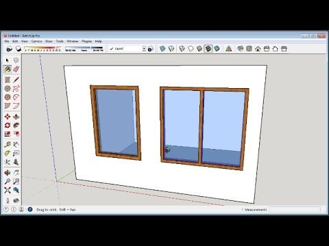 Sketchup How To Make Windows Sketchup Woodworking Woodworking