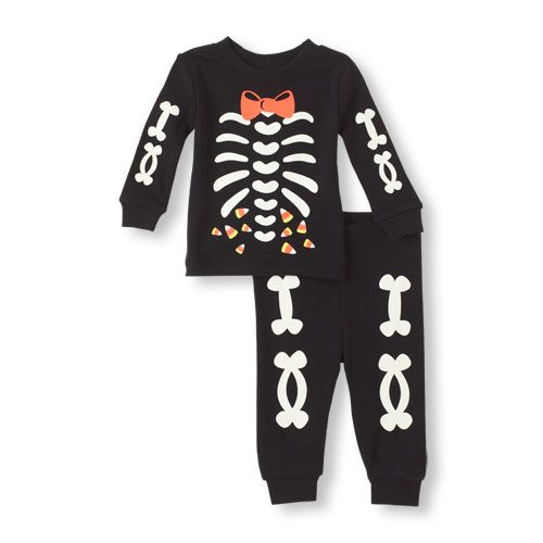 The Childrens Place Baby Girls Halloween Pajama Set