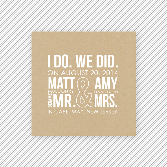 Elopement Koozie Wording