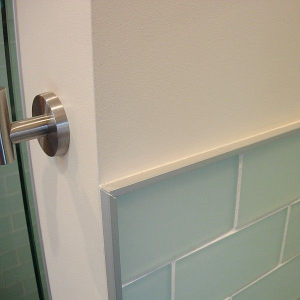 Metal tile edging for subway tiles Bathroom Stuff Pinterest