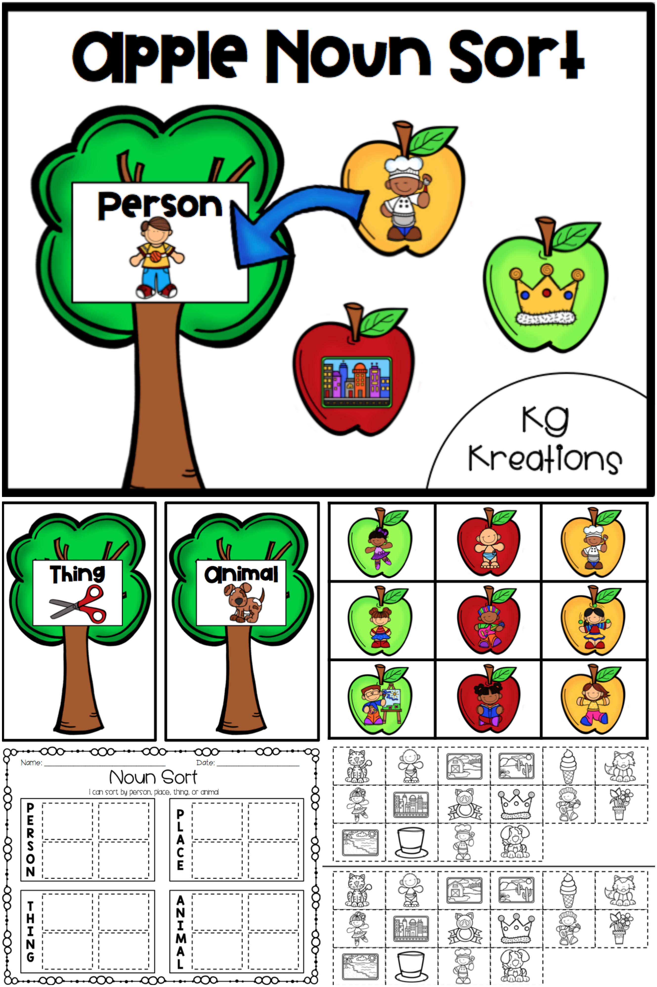 Noun Sort Apples