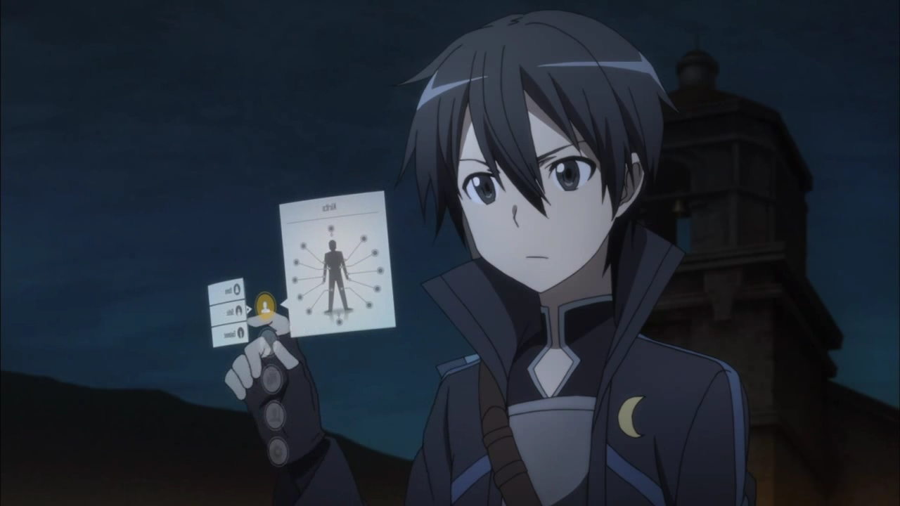 Sword Art Online (SAO) - In-game (virtual reality) user interface