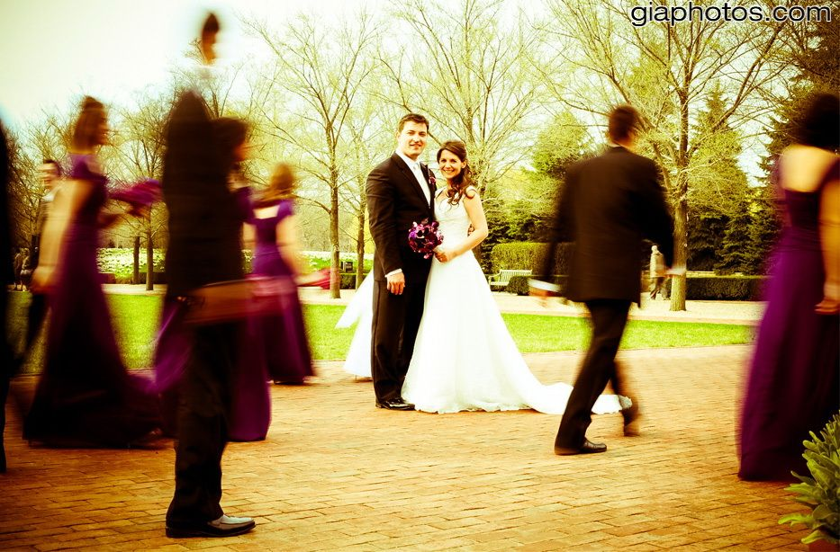 artistic wedding picture