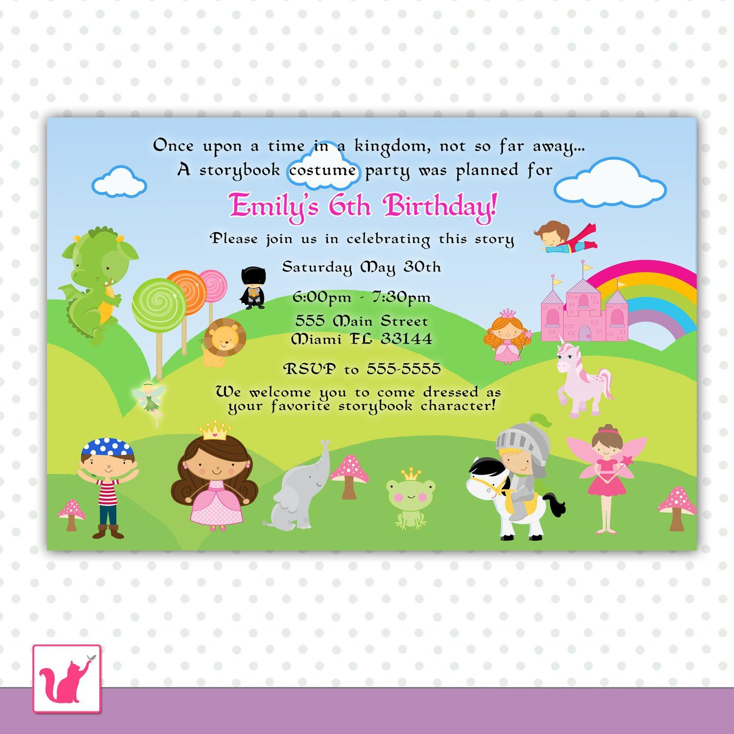 Childrens Birthday Invitation Cards Free