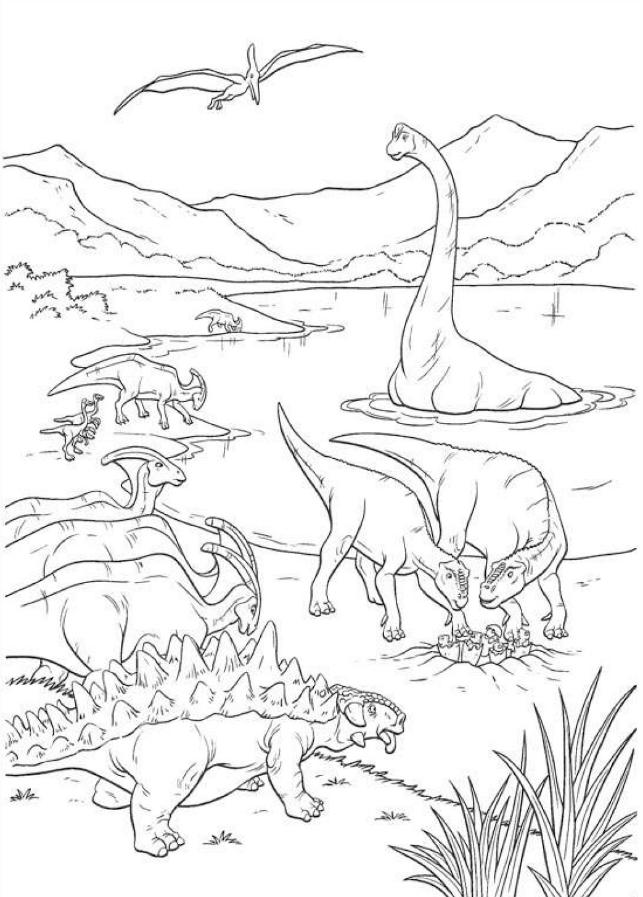 Dinosaurios para colorear hyperpost im genes de - Dessin diplodocus ...