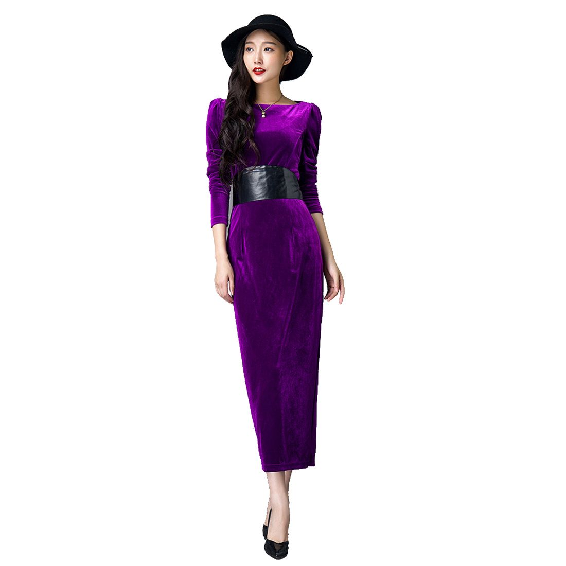 Click to buy ucuc new long sleeve prom dresses tea length formal