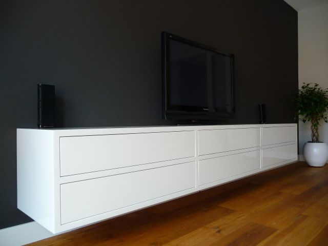 Exclusief hoogglans wit design dressoir tv meubel for Tv dressoir hoogglans wit