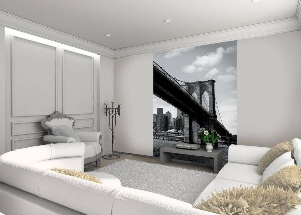 Brooklyn Bridge - Fotobehang Zwart Wit. Mooi voor in de Woonkamer ...