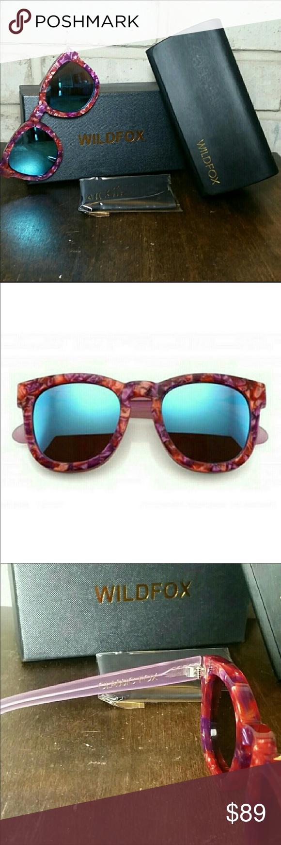 "8c5e6022207 NWOT Wildfox ""Pink Wildflower"" Sunglasses 🌸 🌸 NWOT Wildfox Classic Fox  Sunglasses Called"