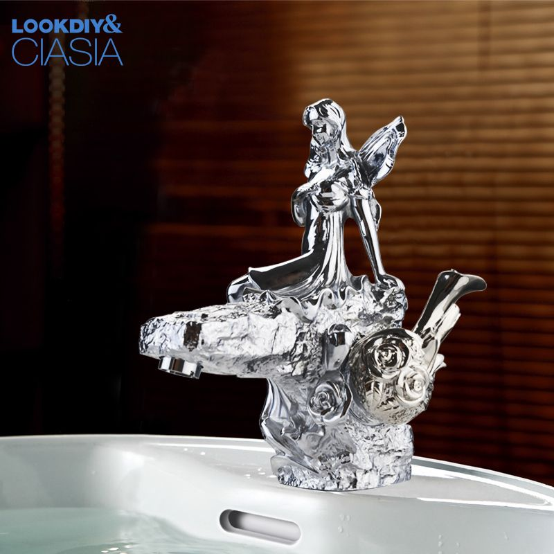 Wholesale And Retail chrome finish Bathroom Basin Flower Fairy ...