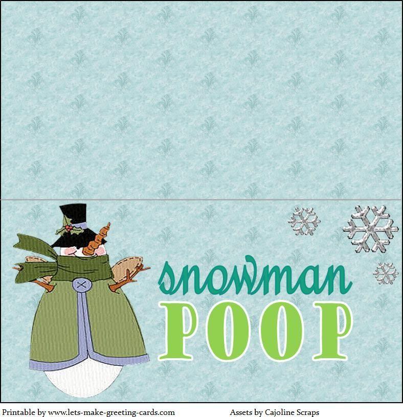 Free Smowman Poop Label (Use Marshmallows)