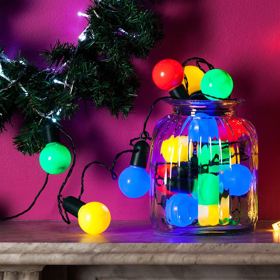 20 multi coloured party festoon lights party lighting outdoor indooroutdoor party lights 20 5m mozeypictures Choice Image