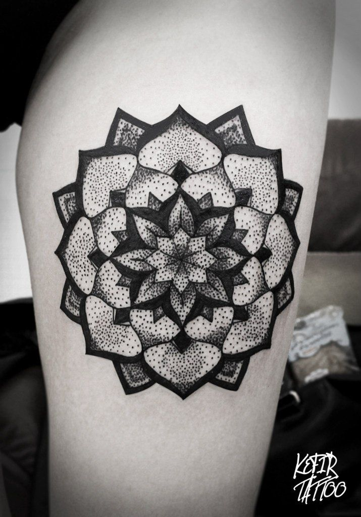 Tattoo dots mandala...love the deaign!