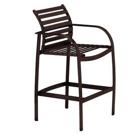 Sun Isle Preston Java Aluminum Patio Barstool Chair Lw-5054M-2