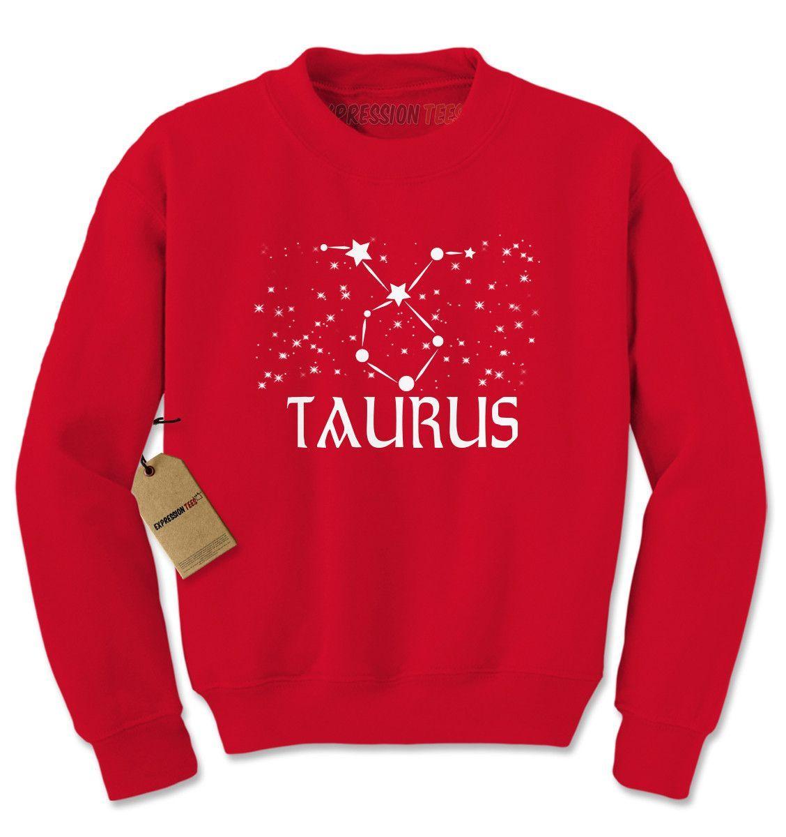 Taurus Zodiac Star Chart Adult Crewneck Sweatshirt
