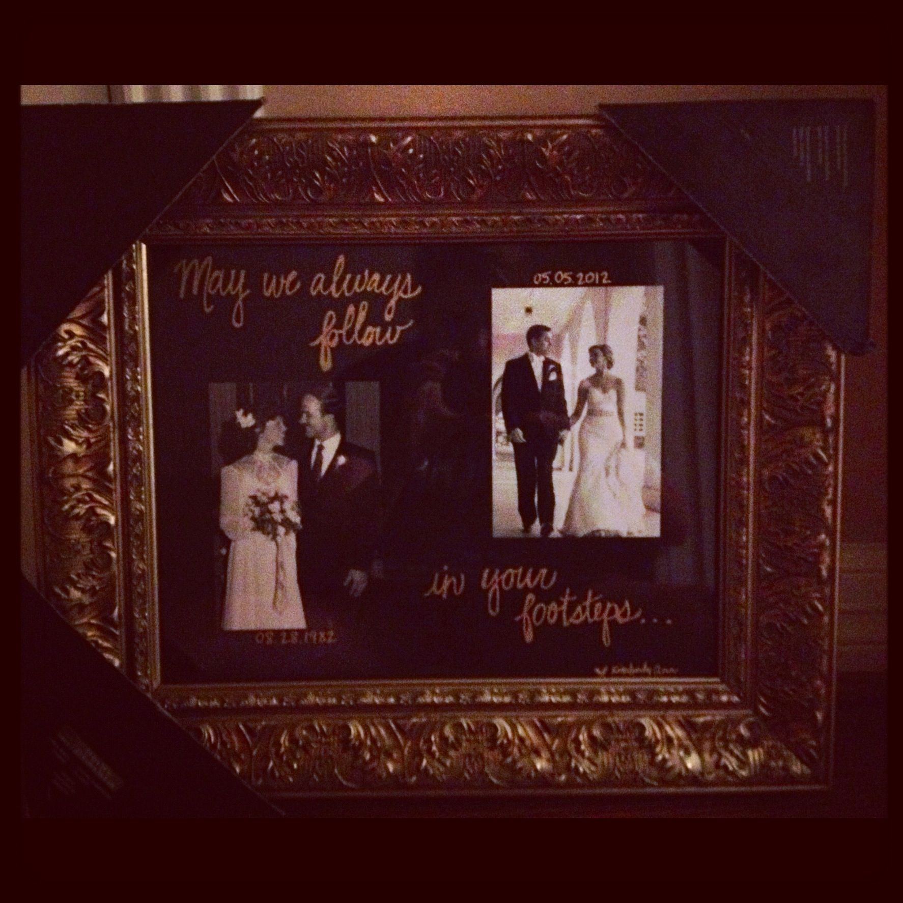 30th Wedding Anniversary gift for my parents... For the