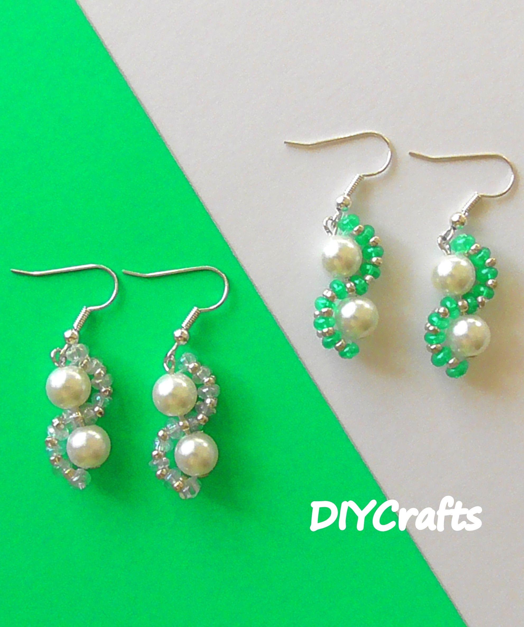 Серьги из бисера и бусин своими руками. Мастер-класс   DIY Earrings from  beads fedd67dc441