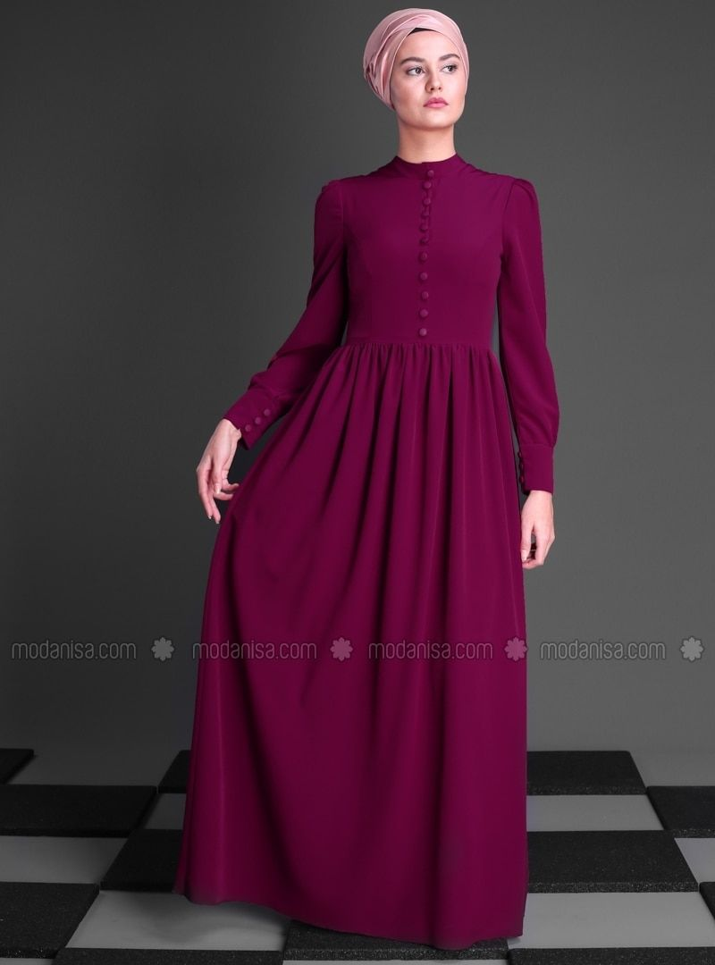 6662c8d46e5 Pink - Polo neck - Fully Lined - Dresses
