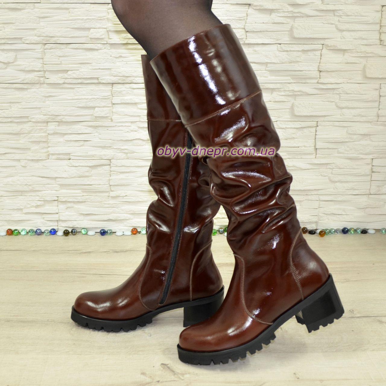 Сапоги коричневые зимние кожаные женские на каблуке. Подробная информация о  товаре услуге и поставщике af9dc5ed07795