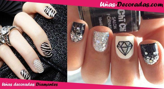 Diferentes Tipos De Diseños De Uñas Decoradas Con Diamantes