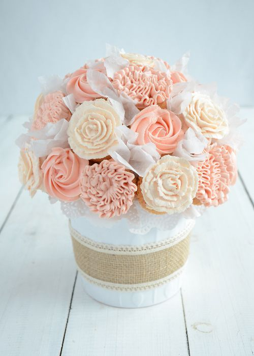 Cupcake bouquet diy video tutorial cake decorating