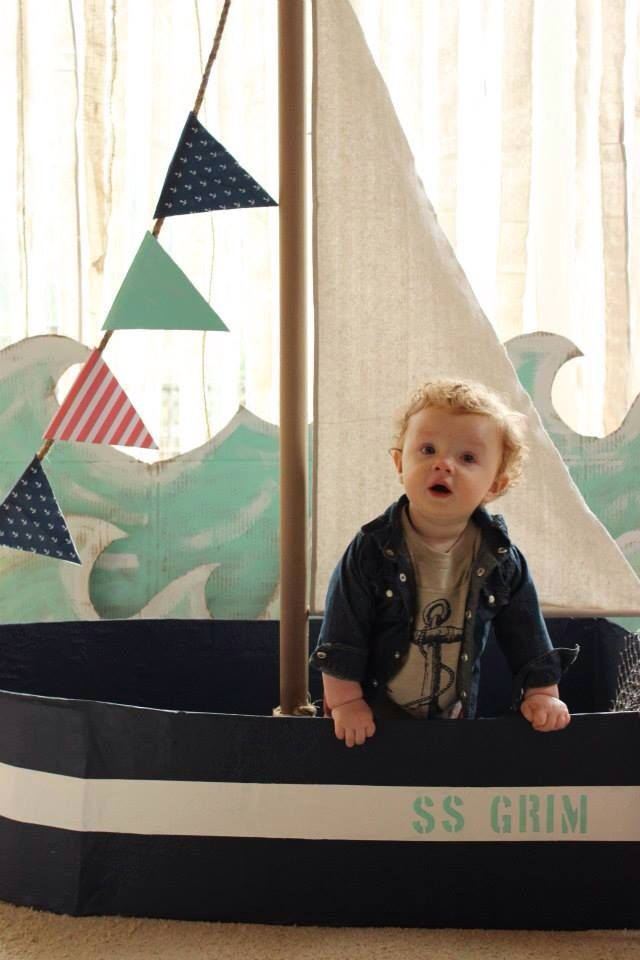 So cute-love the boat and waves