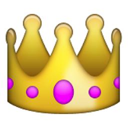 Crown Emoji U 1f451 U E10e Pink Hair Accessories Gold Hair Accessories Emoji