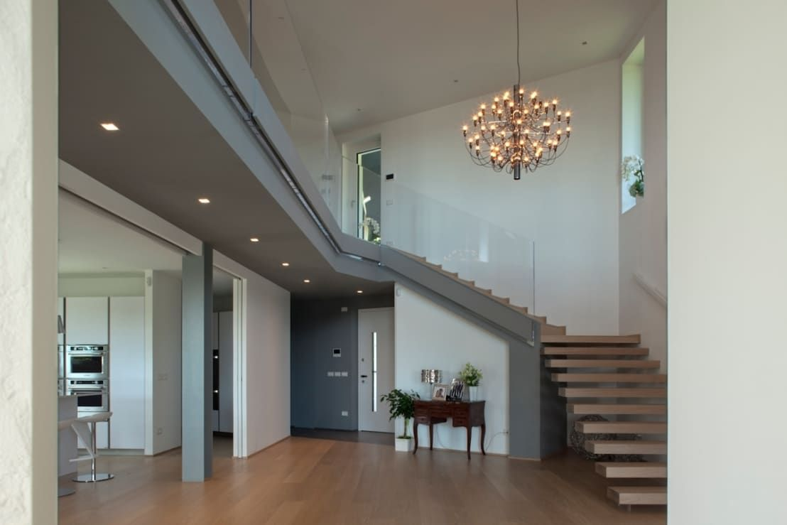 10 recibidores de doble altura y fant sticos doble altura recibidor dise o casas modernas - Recibidores de casas modernas ...