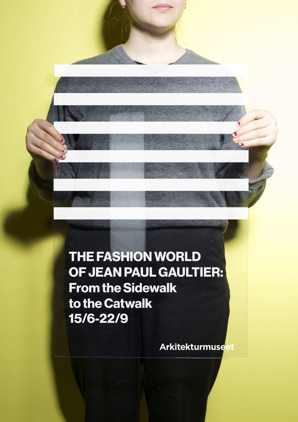 Poster design jeans - Arkitekturmuseet Jean Paul Gaultier By Kristofer Gullard Lindgren Poster Layoutprint Designposter