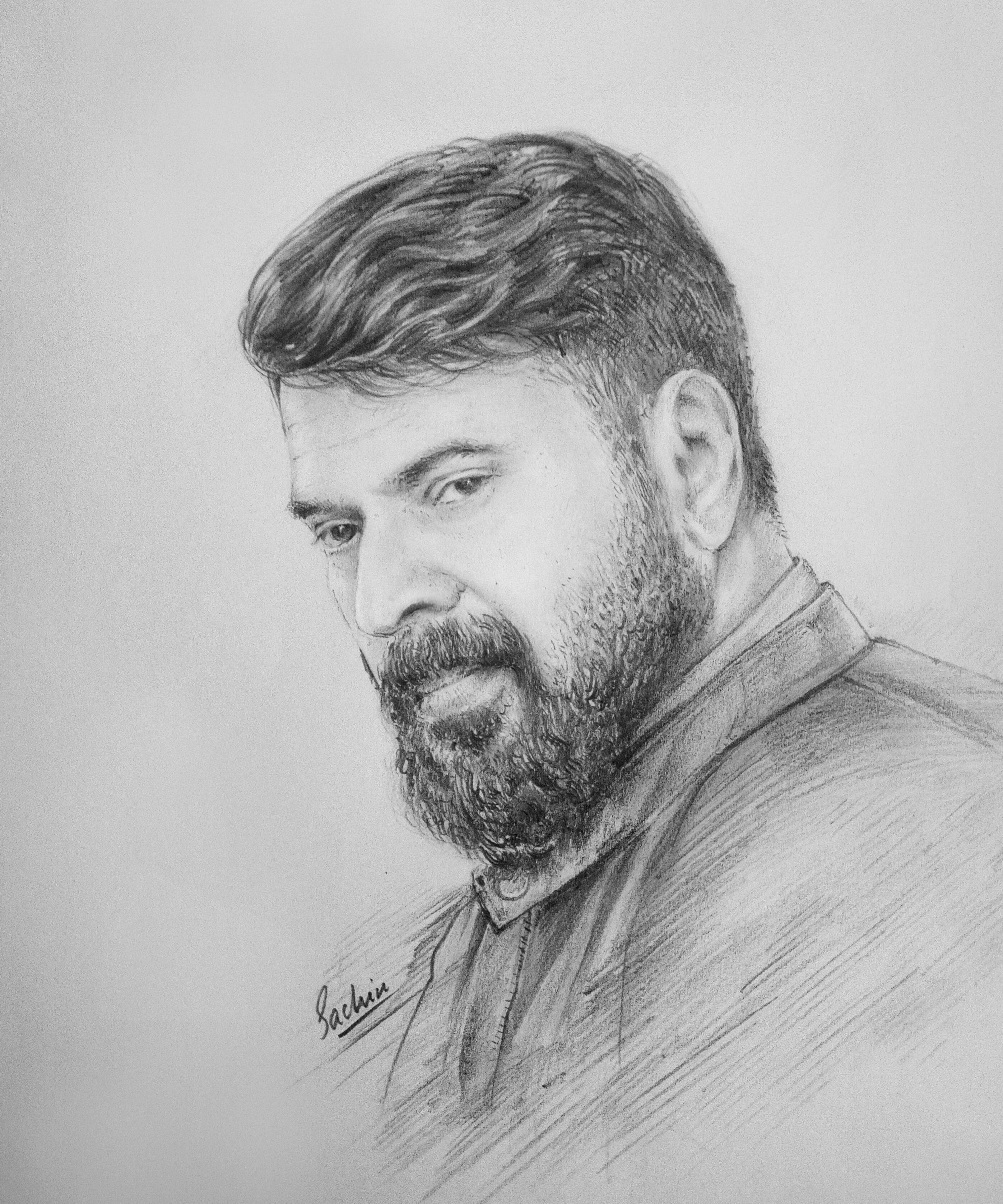 Malayalam Actors Pencil Drawing Images Bestpencildrawing