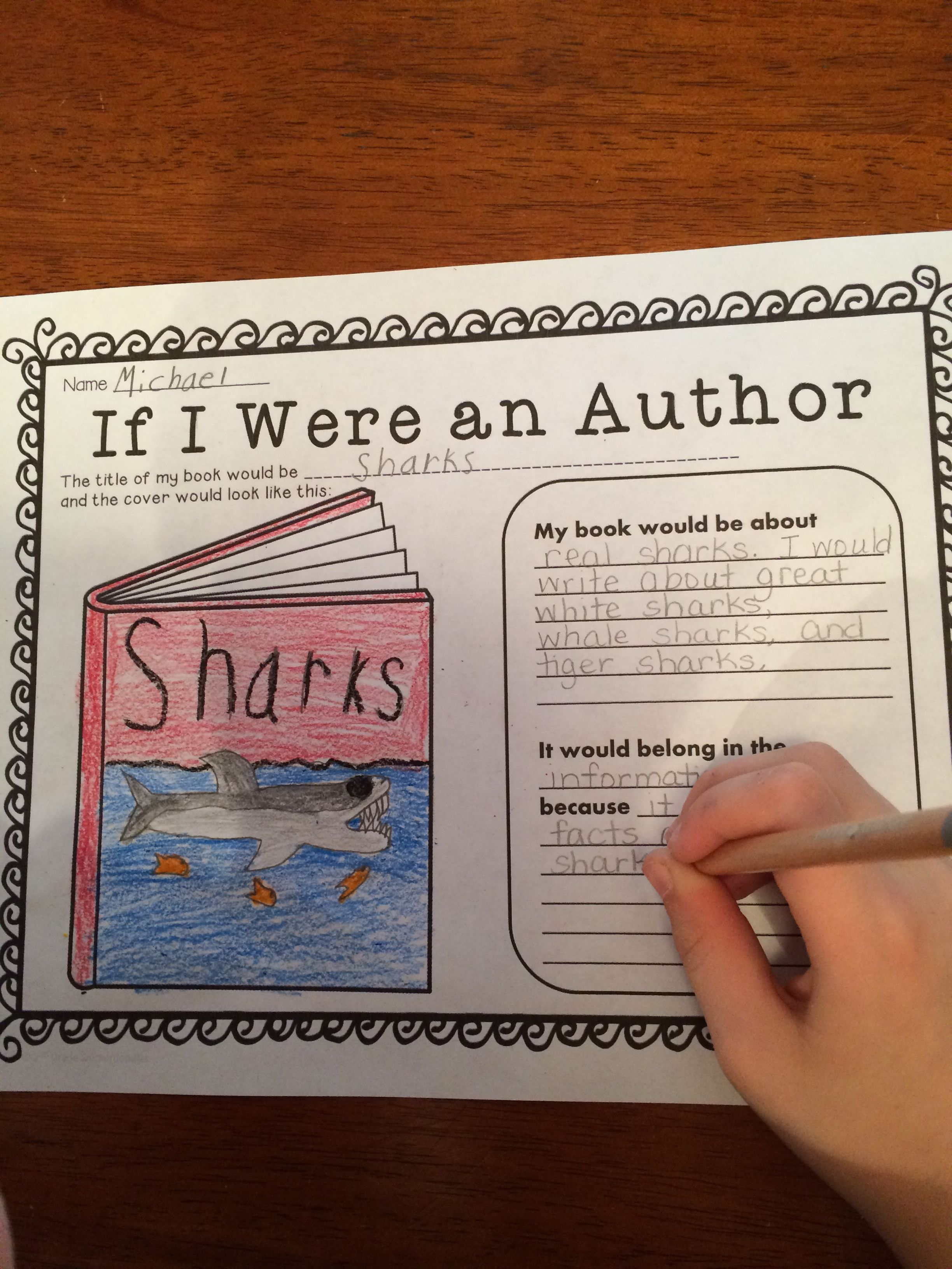 Sample activity from Genres of Literature by 2nd Grade Snickerdoodles $