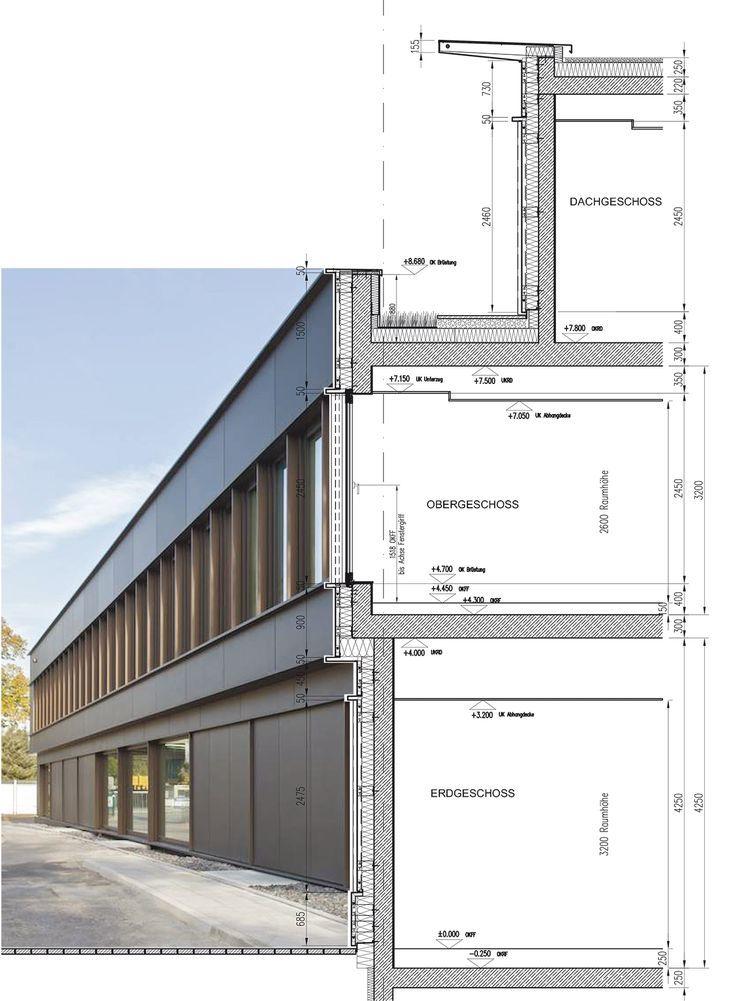 Bildergebnis f r fassadenschnitt fassade for Architektur design studium