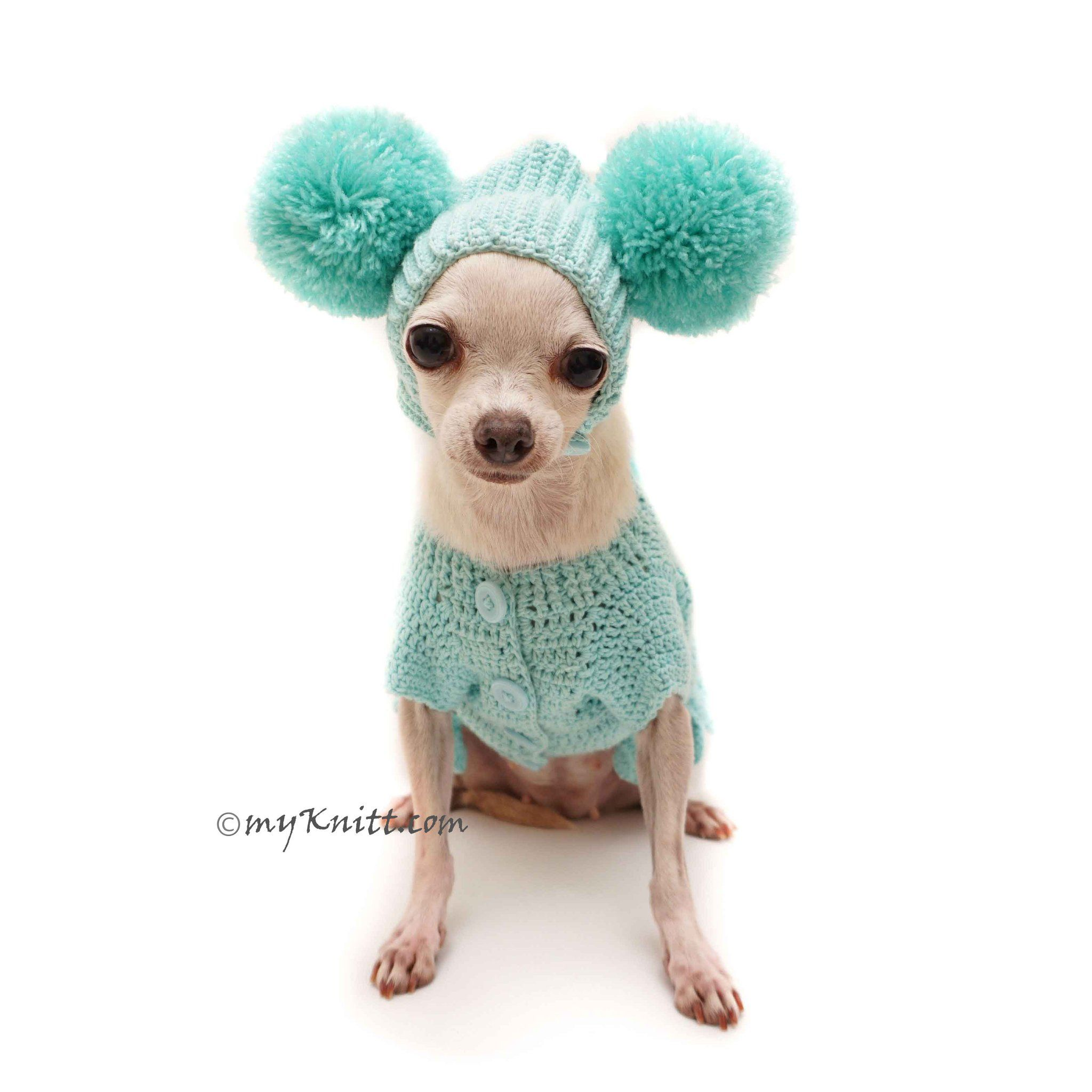 Easter Bunny Costume In Tiffany Blue Color Handmade Crochet Funny