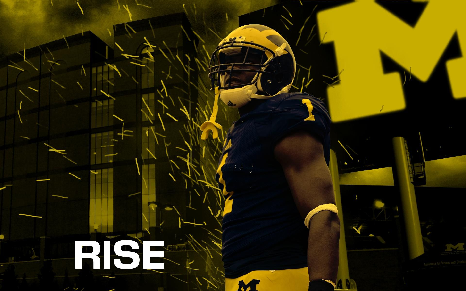 Michigan Wolverines Rising Up Michigan Wolverines Football Wolverines Football Michigan Wolverines