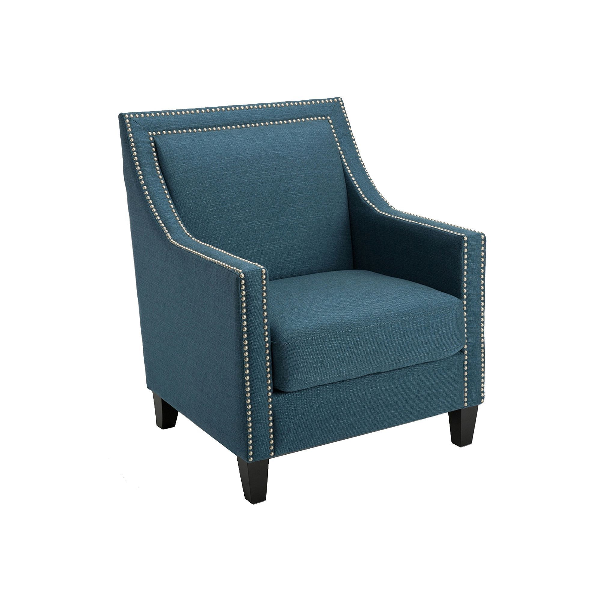 HomePop Edwin Arm Chair, Blue ArmChair (With images