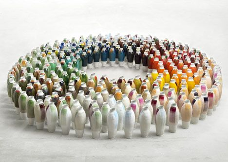 300 Coloured Vases By Hella Jongerius At Museum Boijmans Van