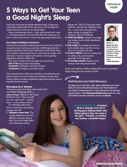 5 Ways to Get Your Teen a Good Night's Sleep #sleep #sleepdisorders #sleepapnea