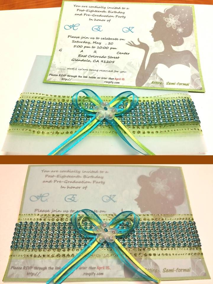 DIY 18TH BIRTHDAY INVITATION  My daughter liked the girl - birthday invitation backgrounds