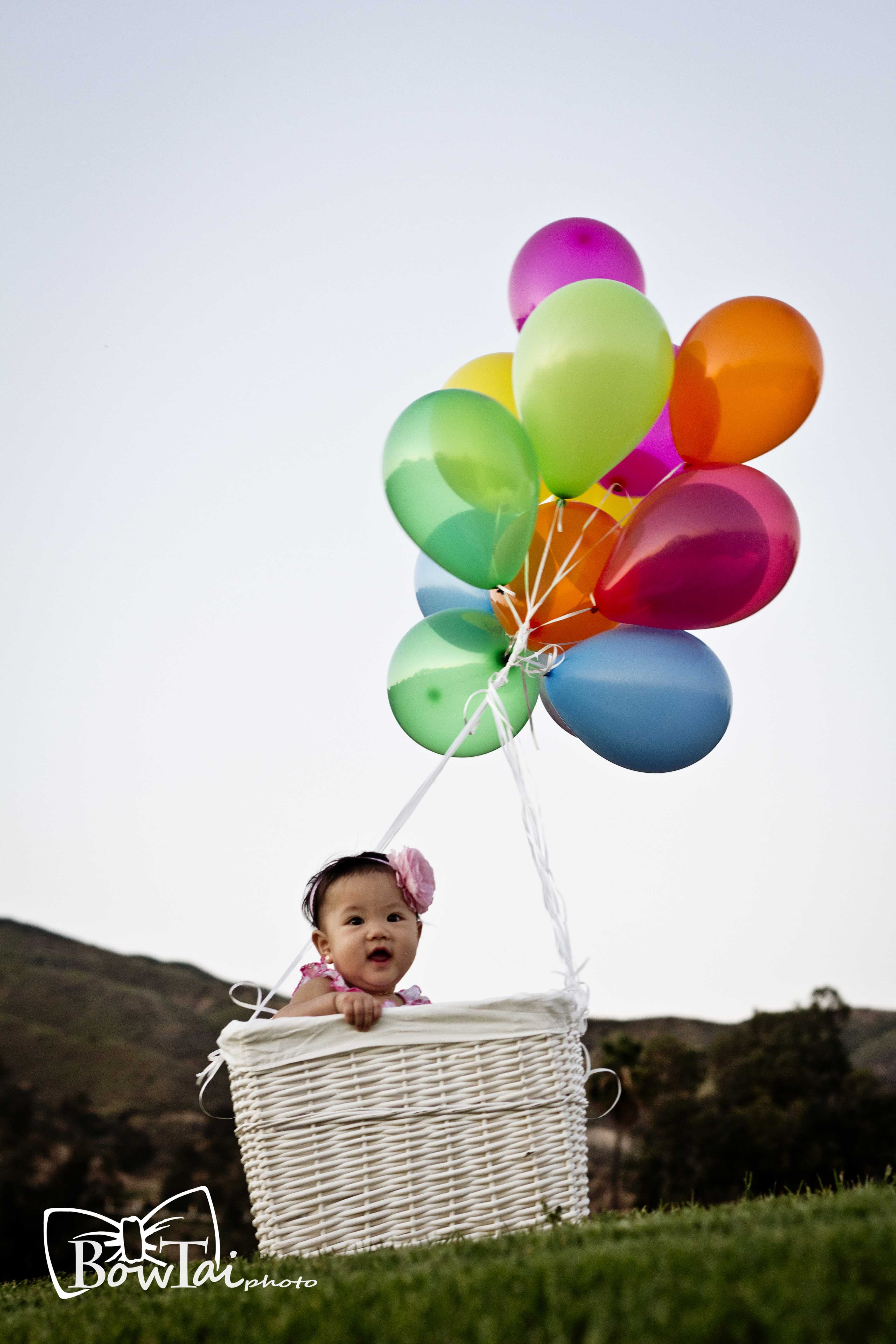 Cute Babies Playing With Ballon Photography