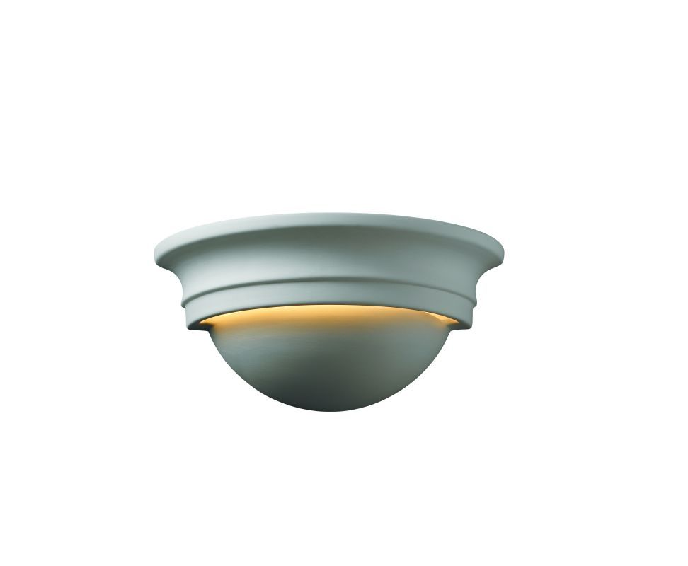 """Justice Design Group CER-1015 10.75"""" Small Cyma One Light Interior Up Lighting W Bisque Indoor Lighting Wall Sconces Wall Washers"""