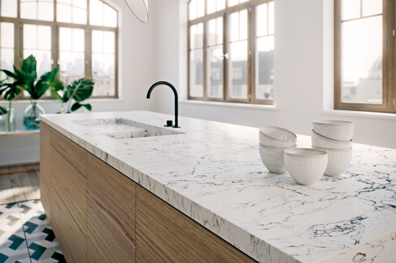 Caesarstone White Attica | Caesarstone new colours 2017 | Pinterest ...