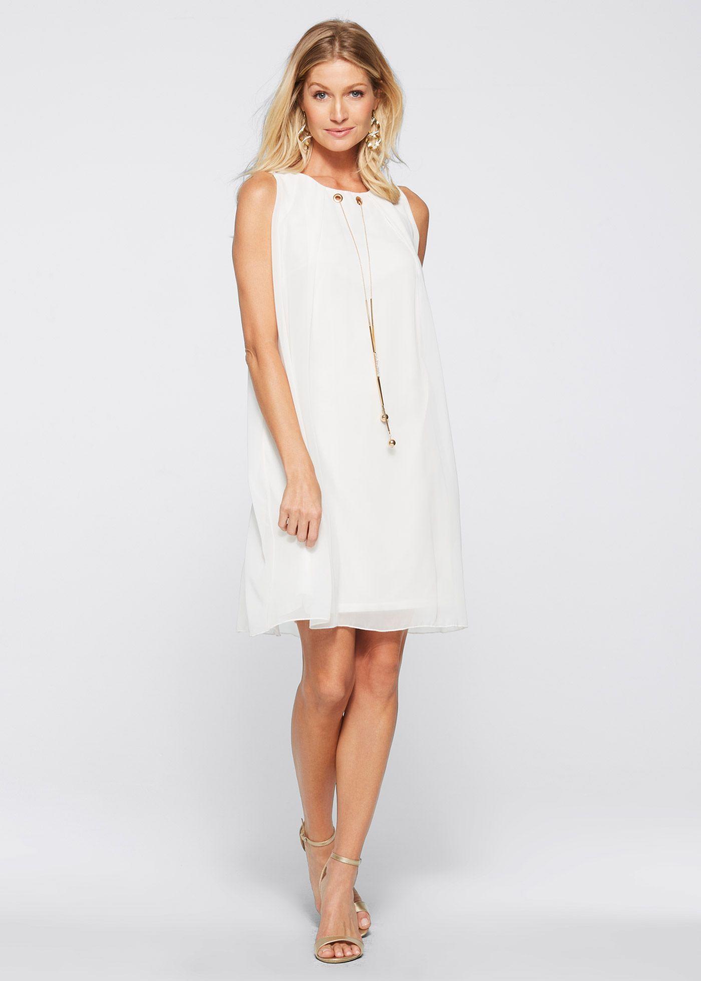 Šaty s doplňkem  Kleider, Weißes kleid, Modestil