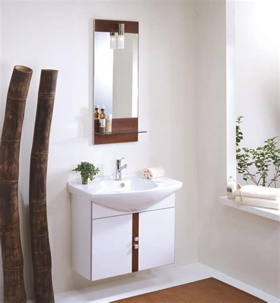 35 Best Wall Mounted Vanities For Small Bathrooms 2019 34 ... on Simple Bathroom Designs For Small Spaces  id=89467