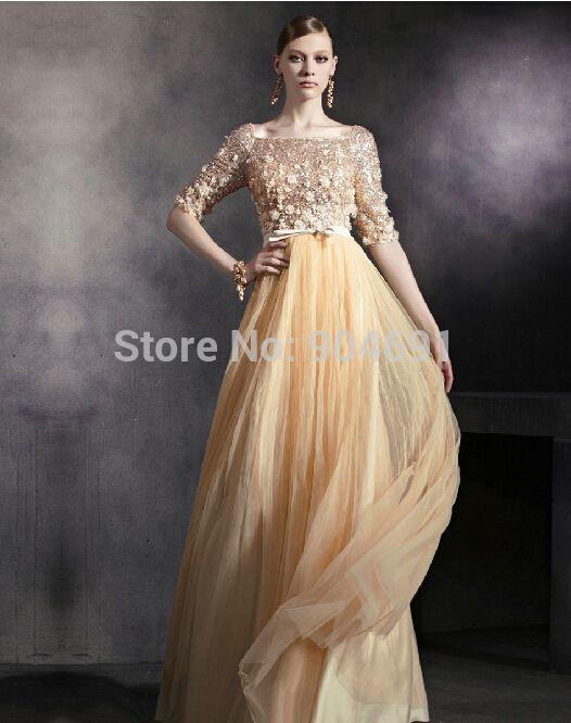 Gold Dress Evening Wear
