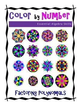 Factoring Trinomials Color by Number All About Math