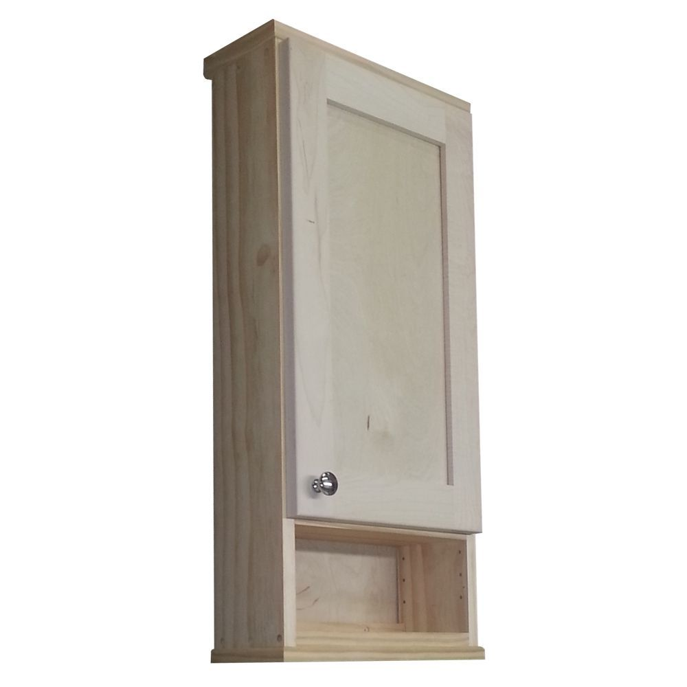 Wg Products Shaker Series Unfinished Deep Inside Open Shelf On The Wall Cabinet Brown