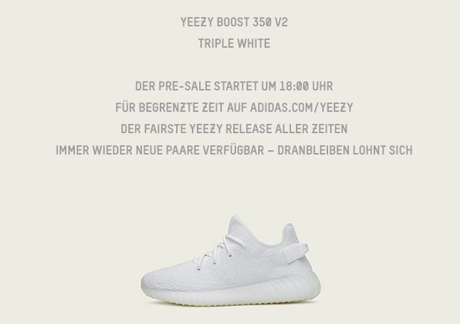 Biggest Yeezy restock ever is happening today at 06:00PM