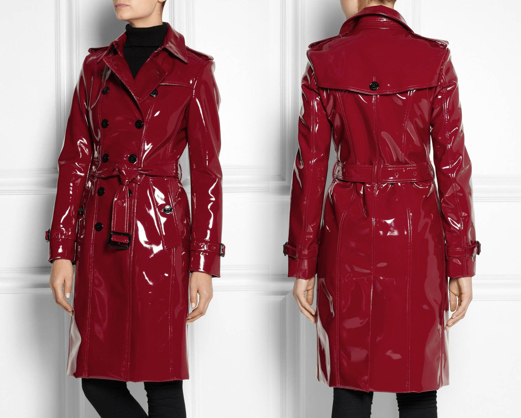 Pvc Vinyl Trench Coat Red Black Pink White Gold Blue Etsy Trench Coats Women Trench Coat Red Jacket Leather